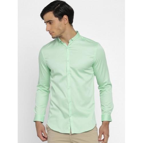 Buy Jack Jones Men Green Slim Fit Solid Smart Casual Shirt Online
