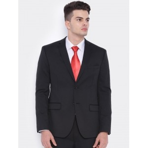 SUITLTD Black Single-Breasted Slim Fit Blazer