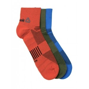 Reebok Unisex Pack of 3 OS Patterned Above Ankle-Length Training Socks