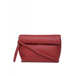 Mast & Harbour Red PU Textured Foldable Sling Bag