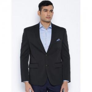 Suitltd Black Polyester Regular Fit Single-Breasted Blazer