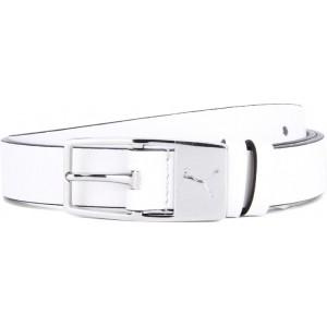 Puma Women's White Leather Belt