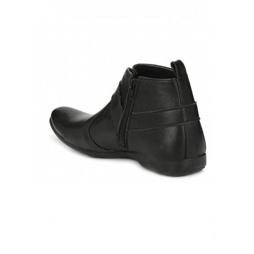 3403e3d639 Buy WONKER Men Black Solid High Ankle Formal Shoes online | Looksgud.in