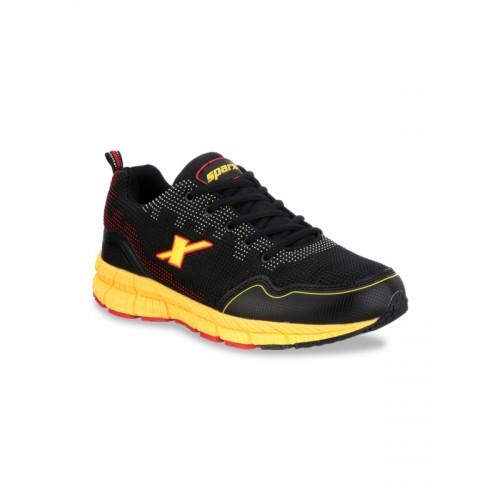 Sparx Men Black Sports Shoes (SM-248 Black)