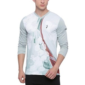 Campus Sutra Multicolour V-Neck Odourless Dryfit Sports T-shirt