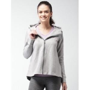 Nike Grey Melange Nsw Av15 Cape Flc Hooded Jacket