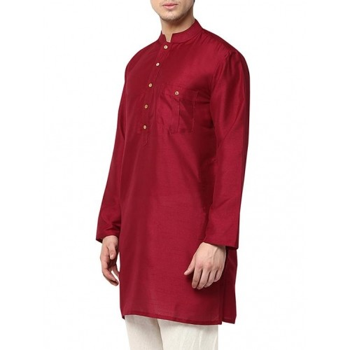 Yepme Red Polyester Solid Kurta