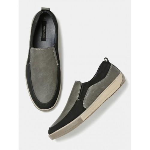 Home · Men · FootWear · Casual Shoes. Moda Rapido Grey & Black Polyurethne  Loafers; Moda Rapido Grey & Black Polyurethne Loafers ...