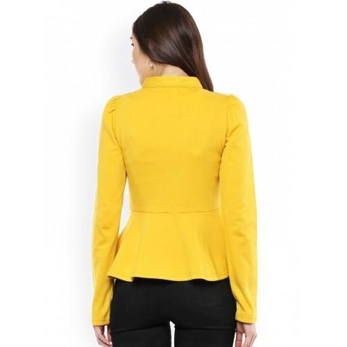 SASSAFRAS Mustard Yellow Peplum Jacket