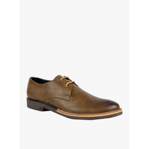 ESCARO Brown Faux Leather Formal Shoes