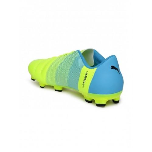 ebc5db6bd65 ... pretty cheap 8ae06 d92f9 PUMA Men Neon Green Blue evoPOWER 4.3 FG Football  Shoes . ...