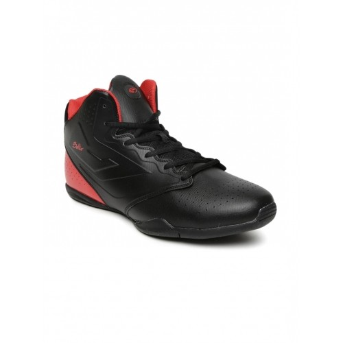 Red Colourblocked Basketball Shoes