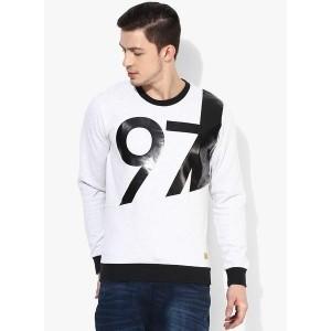 United Colors of Benetton Grey Printed Sweatshirt