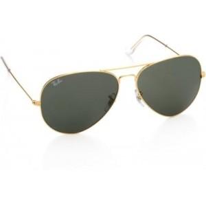 Ray Ban Gray Aviator Full Frame Sunglasses