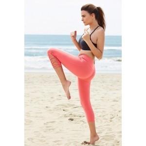 Zivame Orange Polyester Spandex Solid Slim Fit Sports Wear