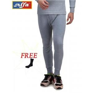 Alfa Body Warmer Cotton Men\'s Thermal Wear (Lower) + 1 Free Socks