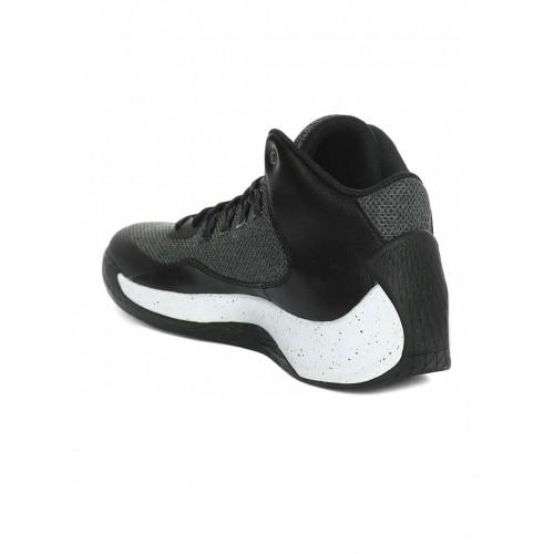... Nike Men Black   Charcoal Grey Jordan Rising High 2 Basketball Shoes ... 8f92a623b