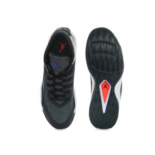 Nike Men Black   Charcoal Grey Jordan Rising High 2 Basketball Shoes ... dc9718975
