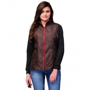 Yepme Brown Polyester Blend Jackets