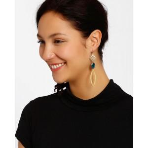 Shabnam Gitanjali Gold-Plated Dangler Earrings