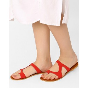 Girls Red Flat Shoes