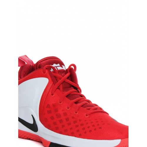 online store 88ee8 b2dff ... Nike Men Red & White ZOOM Witness LeBron James Mid-Top Basketball Shoes  ...