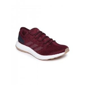 Adidas Men Burgundy PUREBOOST Running Shoes