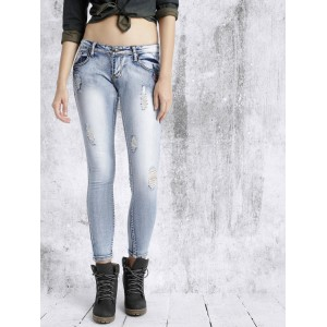RDSTR Women Blue Slim Fit Mid Rise Mildly Distressed Jeans