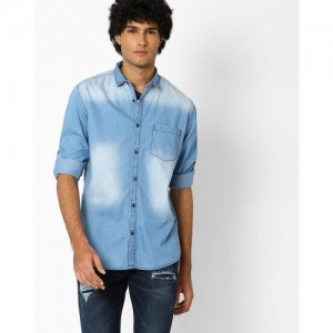 Nature Casuals Light Blue Lightly Washed Shirt