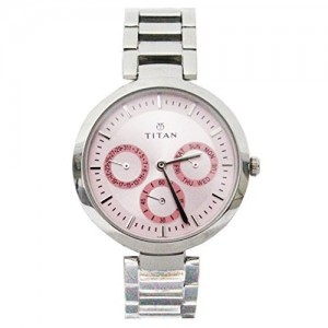 Titan Youth Analog Pink Dial Women's Watch - NE2480SM05