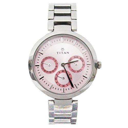 Titan Youth Analog Pink Dial Women's Watch - NE2480SM05