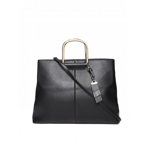 Mango Black Handbag With Sling Strap