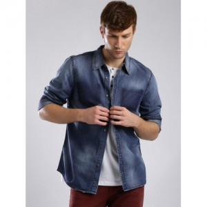 0196c1af12f4 Buy latest Men's Denim Shirts from Guess online in India - Top ...