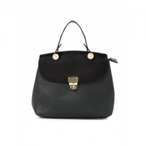 Addons Black Backpack Cum Handbag