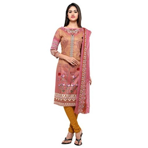 e4ff298aea Home · Women · Clothing · Ethnic Wear · Salwar Suits. Kvsfab Kvsfab Pink Colour  printed Dress Material