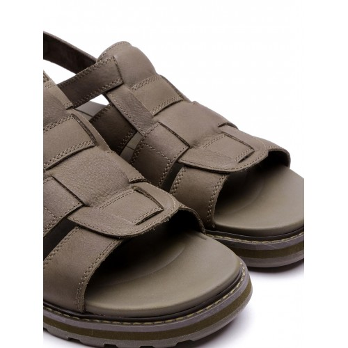 8be808a2b Buy CAT Men Brown Leather Sports Sandals online   Looksgud.in