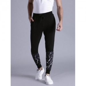 Kook N Keech Black Printed Jogger Track Pants