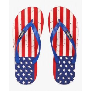 Freetoes USA Print Thong-Style Flip-Flops