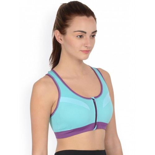 62718a4629fef Buy Da Intimo Blue Front-Open Activewear Sports Bra DIX-54 online ...