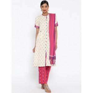 BIBA Multicoloured Printed Women's A Line Salwar Suit