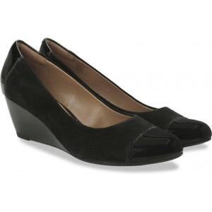 Clarks Brielle Chanel Black Combi Sde Slip On Shoes