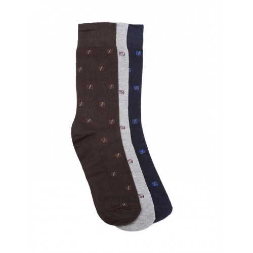 INVICTUS Men Set of 3 Patterened Above Ankle-Length Socks