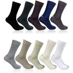 Bonjour Plain Men's Self Design Crew Length Socks