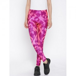 Puma Neon Magenta Tight Fit Printed Elevated Tights