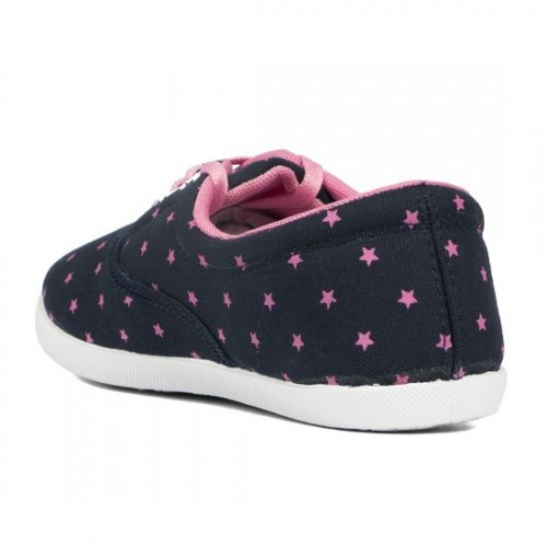 Asian Navy Blue Printed Low Ankle Shoes