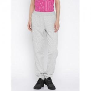 Puma Grey Melange Regular Fit ESS No.1 Track Pants