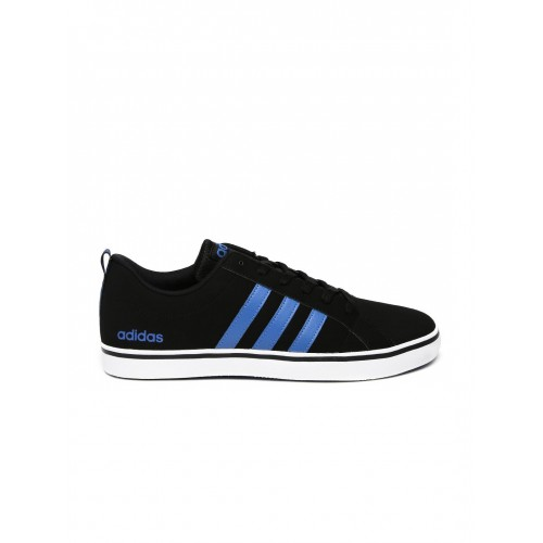 0460311372c561 Buy Adidas NEO Men Black Solid Pace VS Leather Sneakers online ...