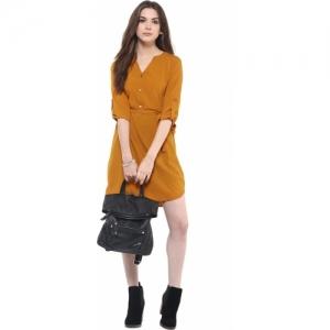 Zimaleto Women's Shirt Yellow Dress
