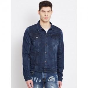 John Players Navy Blue Washed Denim Jacket