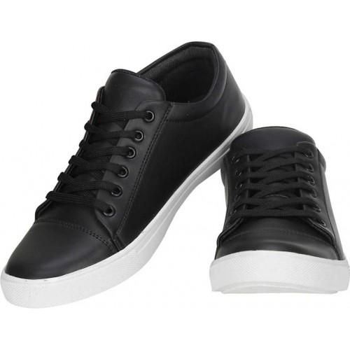 Kraasa  Black  Synthetic  Lace up Sneakers